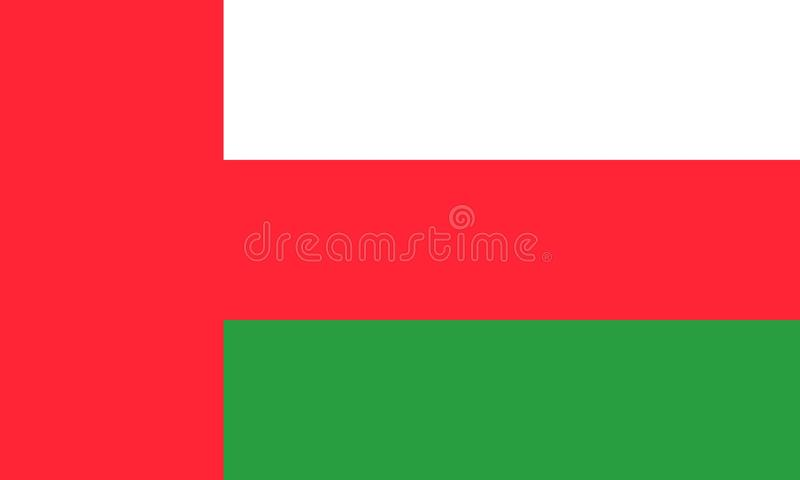 Oman. Flag; from vector collection royalty free illustration
