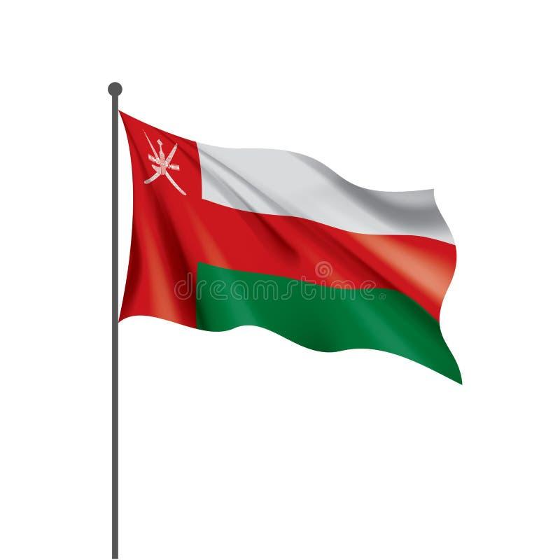 Oman flag, vector illustration on a white background. Oman national flag, vector illustration on a white background stock illustration