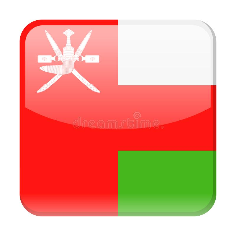 Oman Flag Vector Square Icon. Illustration vector illustration