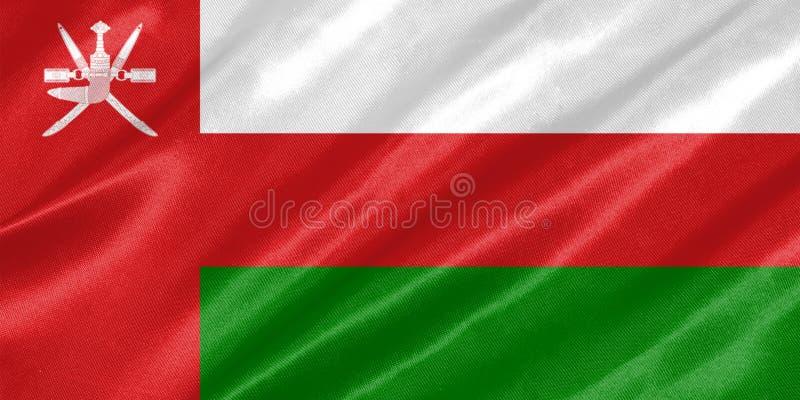 Oman-Flagge lizenzfreies stockfoto