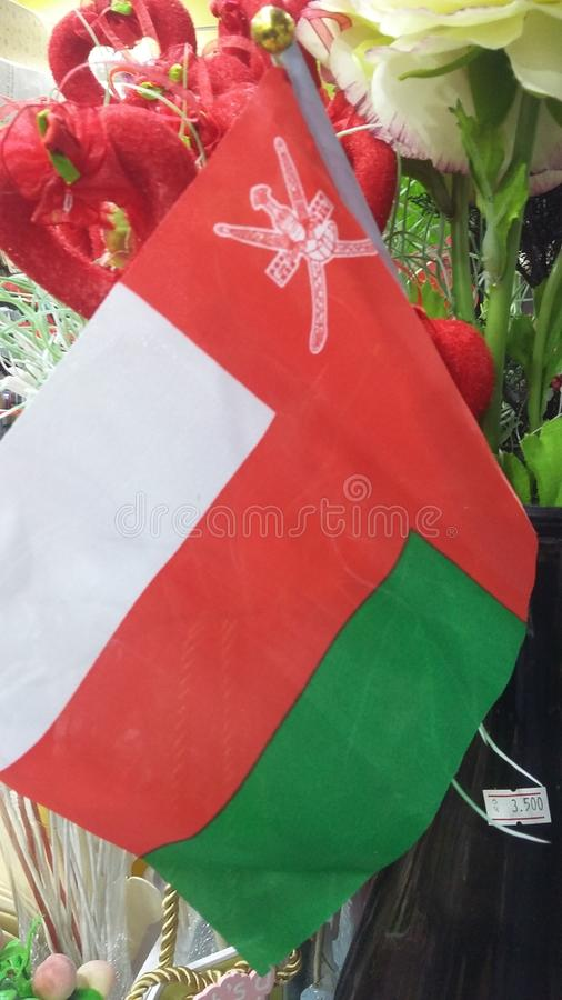 Oman flaj stock image