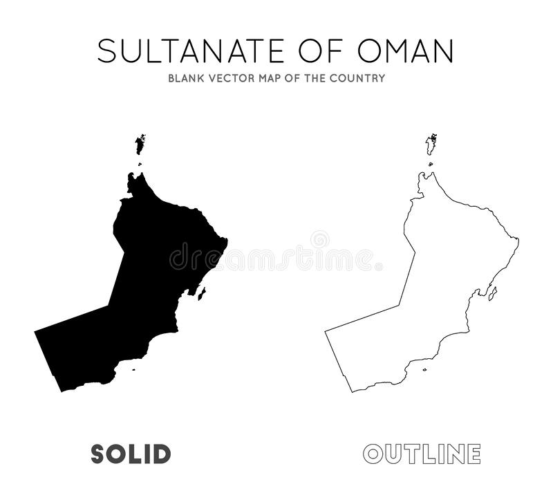 Oman map. Blank vector map of the Country. Borders of Oman for your infographic. Vector illustration vector illustration