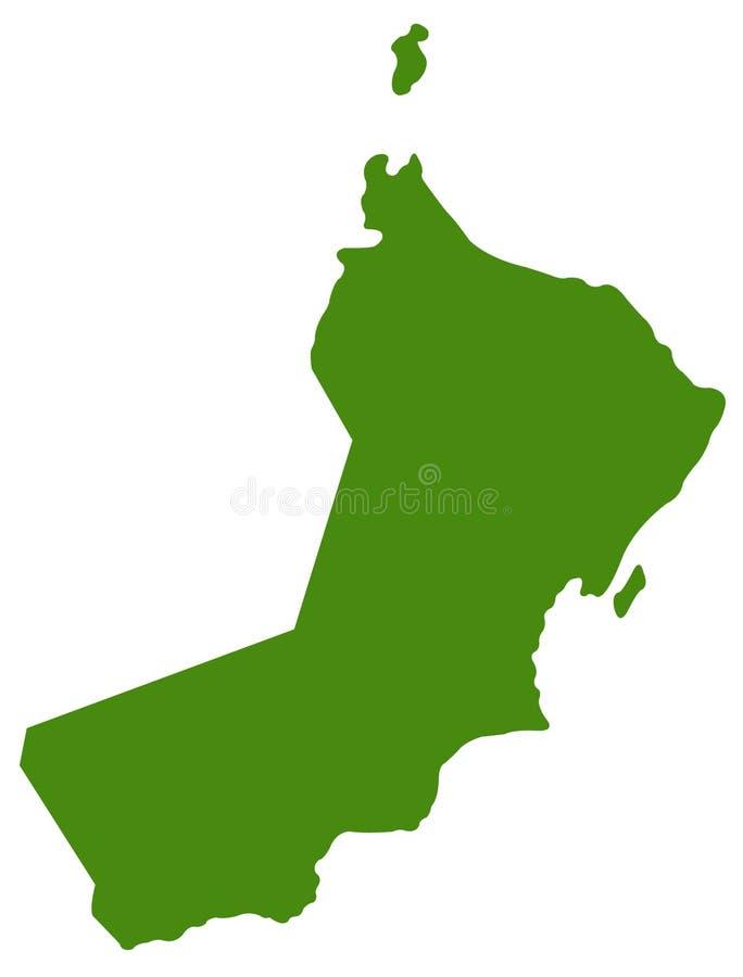 Oman mapa - sułtanat Oman royalty ilustracja