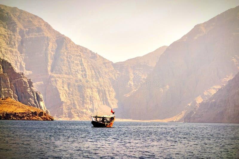 Oman Musandam arkivfoto