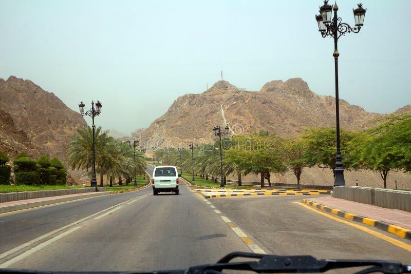 Oman Muscat Al Bahri Road arkivfoton