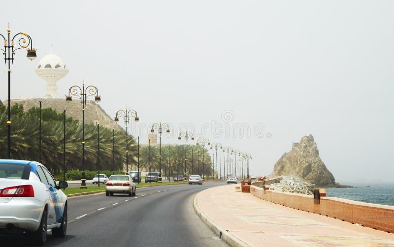 oman muscat Dohaen Corniche royaltyfri foto