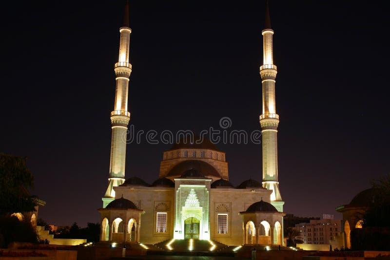 Oman, Muscateldruif - de Sultan Bovengenoemde moskee van Taimur van de bak royalty-vrije stock afbeelding