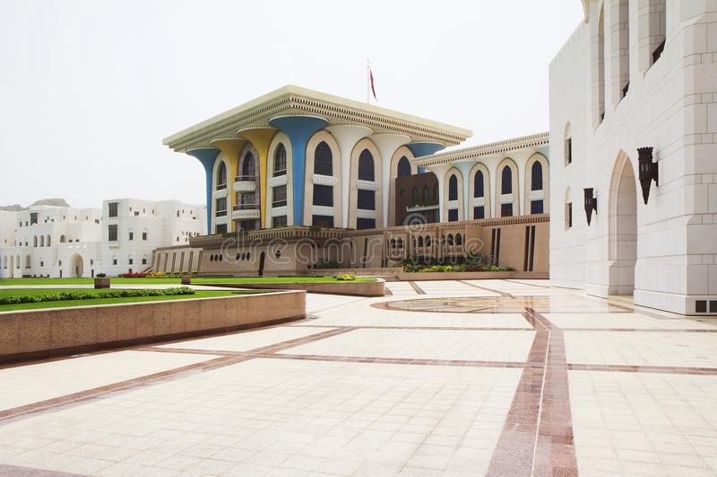 Oman. Muszkat. Al Alam pałac. obrazy royalty free