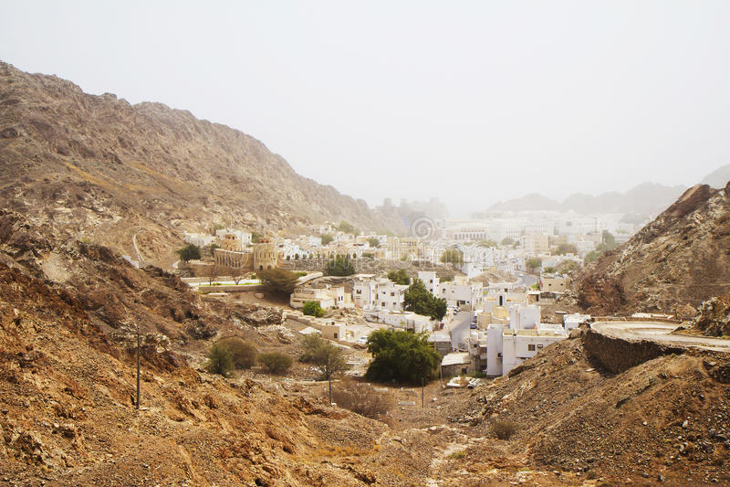 Oman muszkat starego miasta zdjęcia royalty free