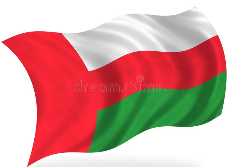 Oman. Flag, on the white royalty free illustration