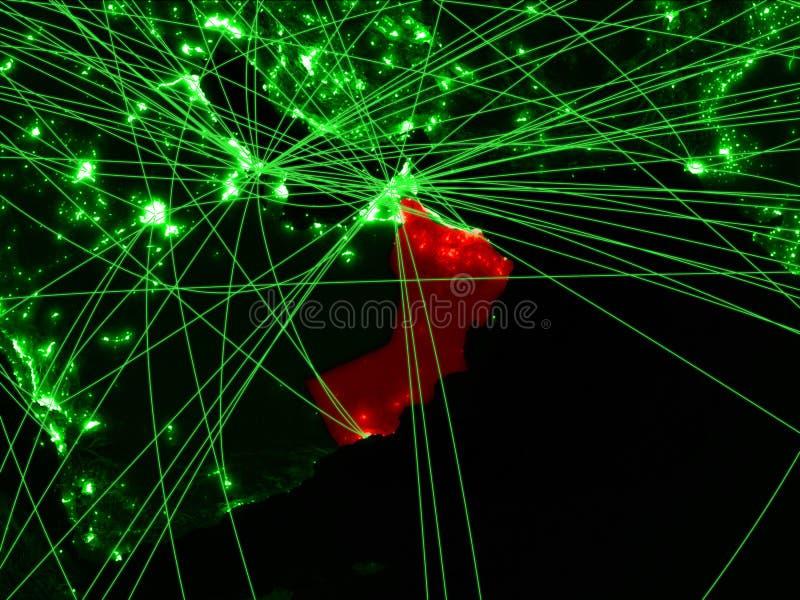 Oman op groene kaart royalty-vrije stock afbeeldingen