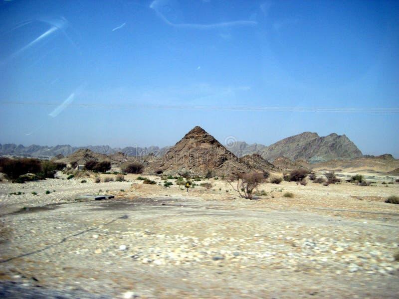 Oman południa pustynia między wybrzeżem i górami zdjęcia royalty free