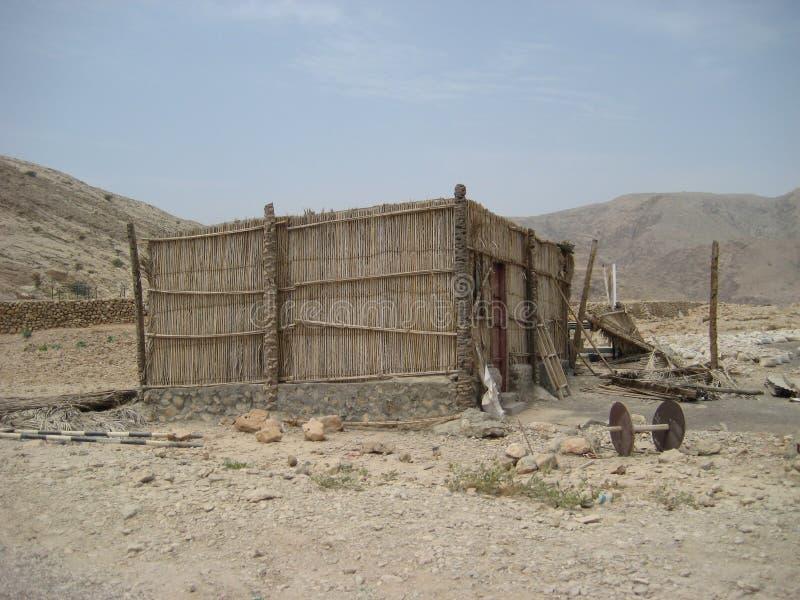 Oman południa pustynia między wybrzeżem i górami obrazy stock
