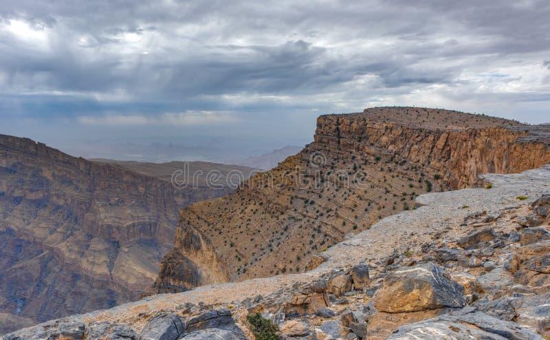Oman ` s Grand Canyon royaltyfria bilder