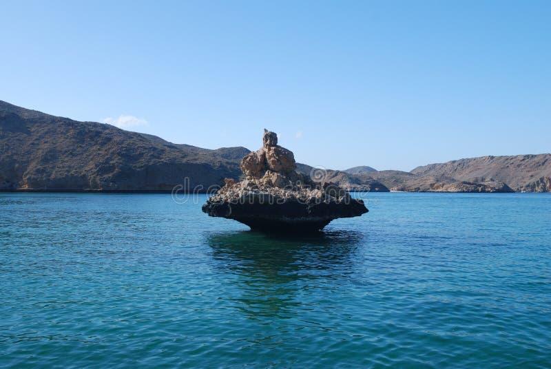Oman sandsten arkivbild