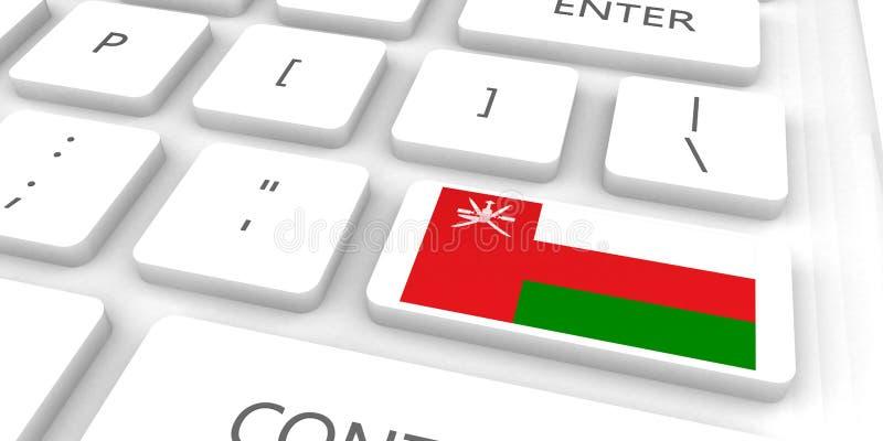 Oman som springer till framtiden royaltyfri illustrationer