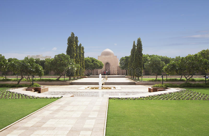 oman Storslagen moské Sultan Qaboos fotografering för bildbyråer