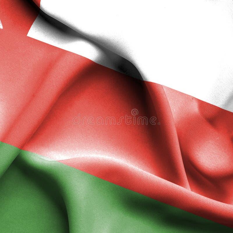 Oman vinkande flagga vektor illustrationer