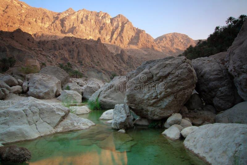 Oman: Wadi Tiwi stock photos