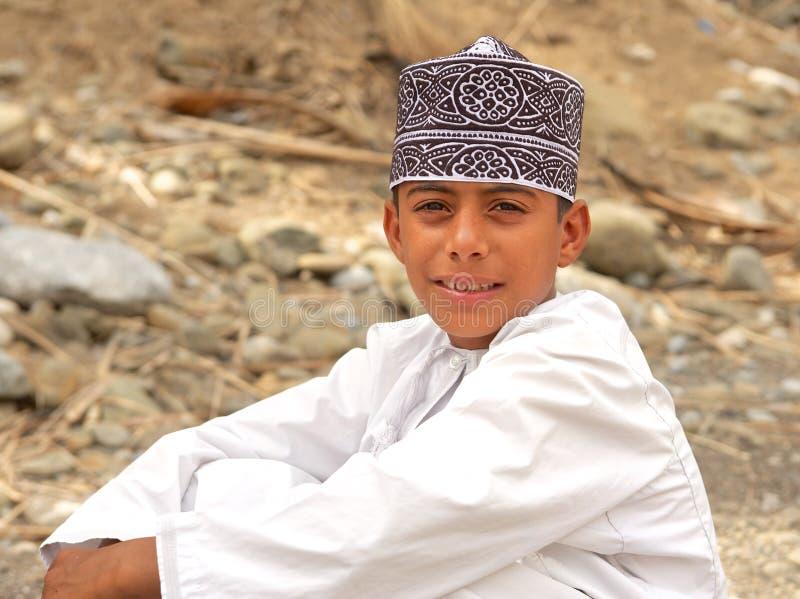 Omani Jongen royalty-vrije stock afbeelding