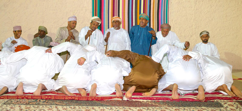Omani Majlis royalty-vrije stock afbeeldingen