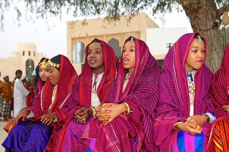 Omani Meisjes royalty-vrije stock foto
