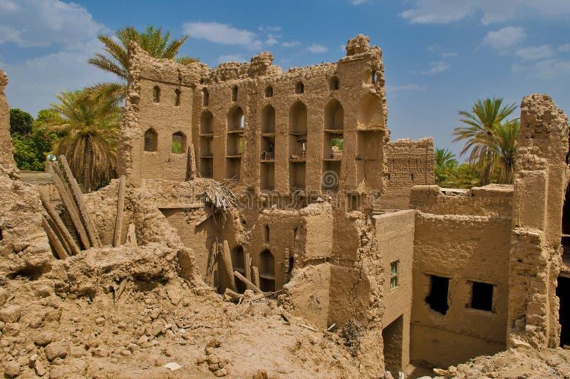 Omani oud dorp stock fotografie
