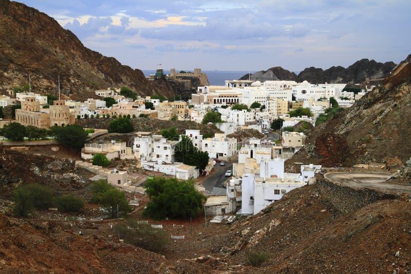 Omani stad royalty-vrije stock foto