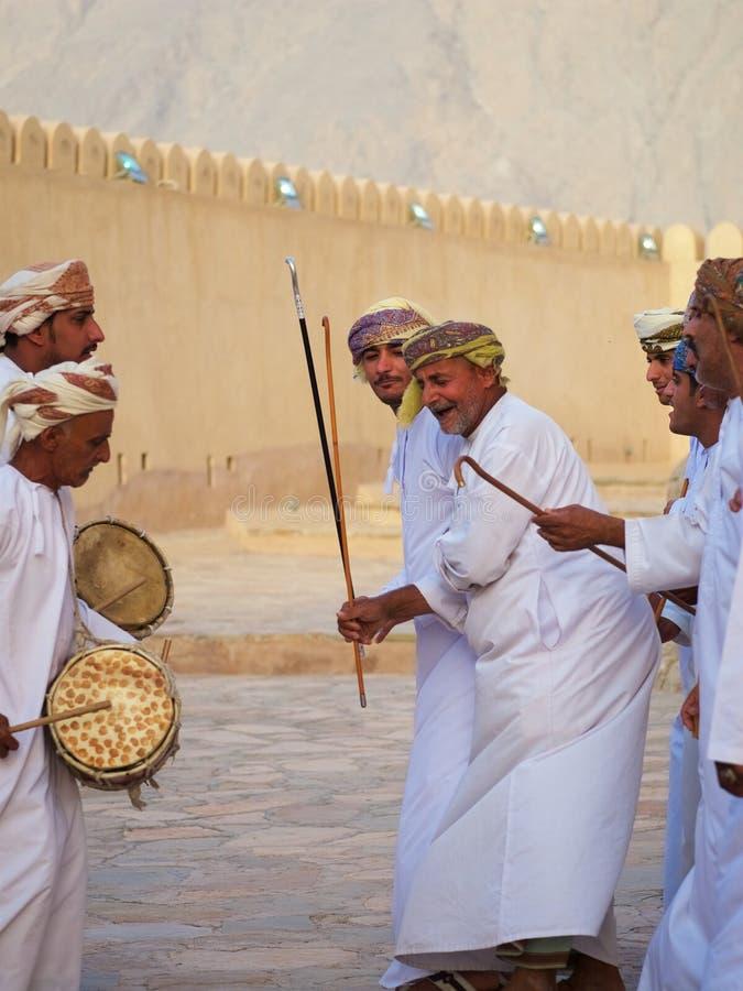 Omani traditionele dans en muziek, Arabische cultuur, traditie royalty-vrije stock fotografie