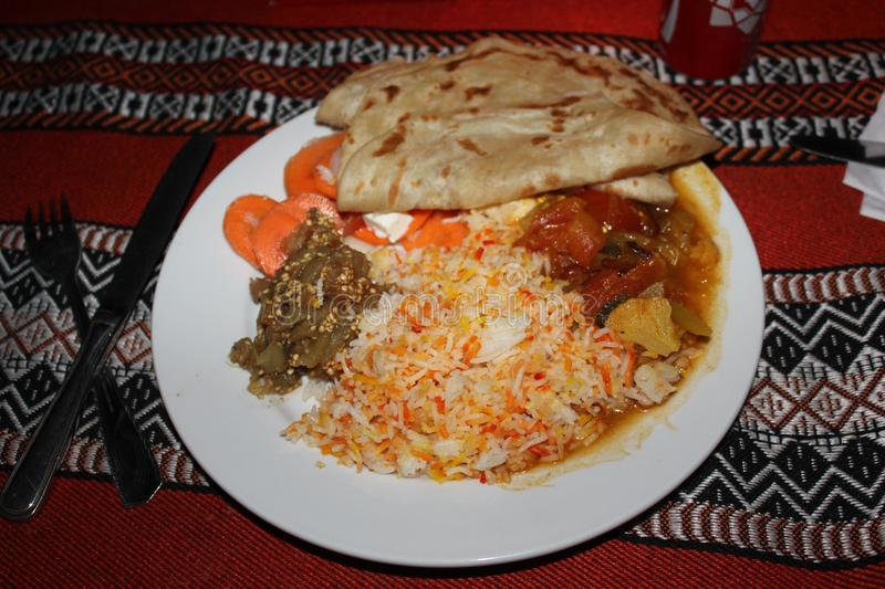 Omani typical dish stock images