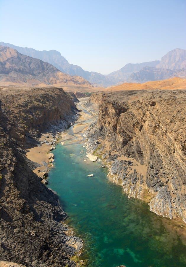 Omani wadi obraz stock