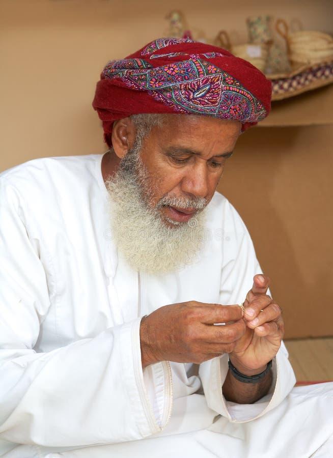 Omansk hantverkare arkivbilder