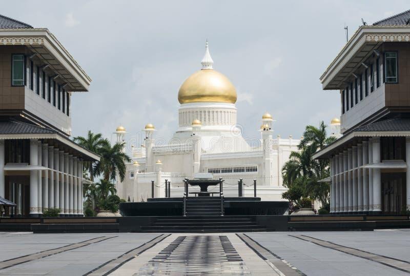 Omar Ali Saifuddien Mosque, Brunei Darussalam foto de stock royalty free