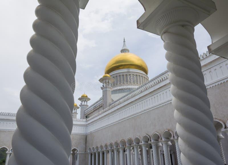 Omar Ali Saifuddien Mosque, Brunei Darussalam imagens de stock