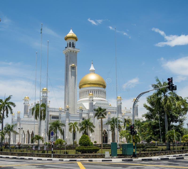 Omar Ali Saifuddien Mosque, Brunei Darussalam imagem de stock royalty free