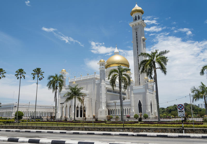 Omar Ali Saifuddien Mosque, Brunei Darussalam foto de stock