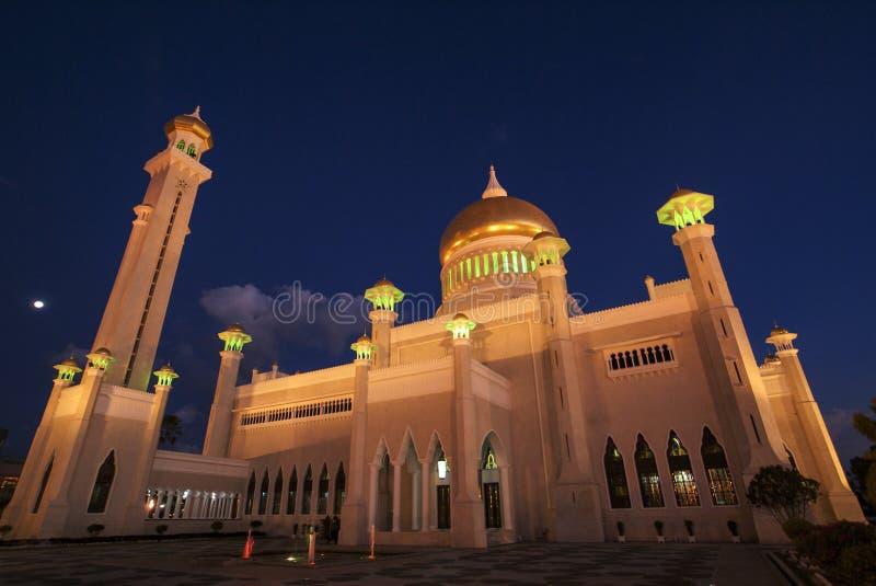 Omar Ali Saifuddin Mosque - Bandar Seri Begawan - Brunei Darussalam fotografia de stock