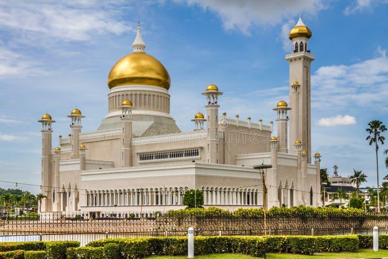 Omar Ali Saifudding meczet Seri Begawan obrazy royalty free