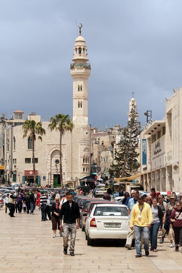 Omar Mosque i Betlehem royaltyfria bilder