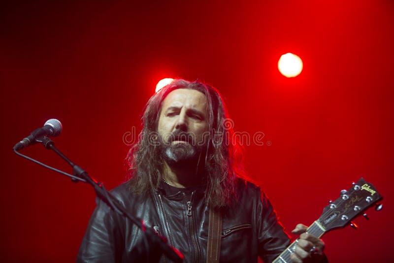 Omar Pedrini Timoria spielt live in Mailand stockfotos