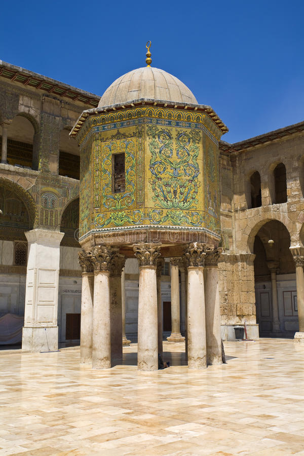 Download Omayyad Mosque stock photo. Image of building, minaret - 12494014