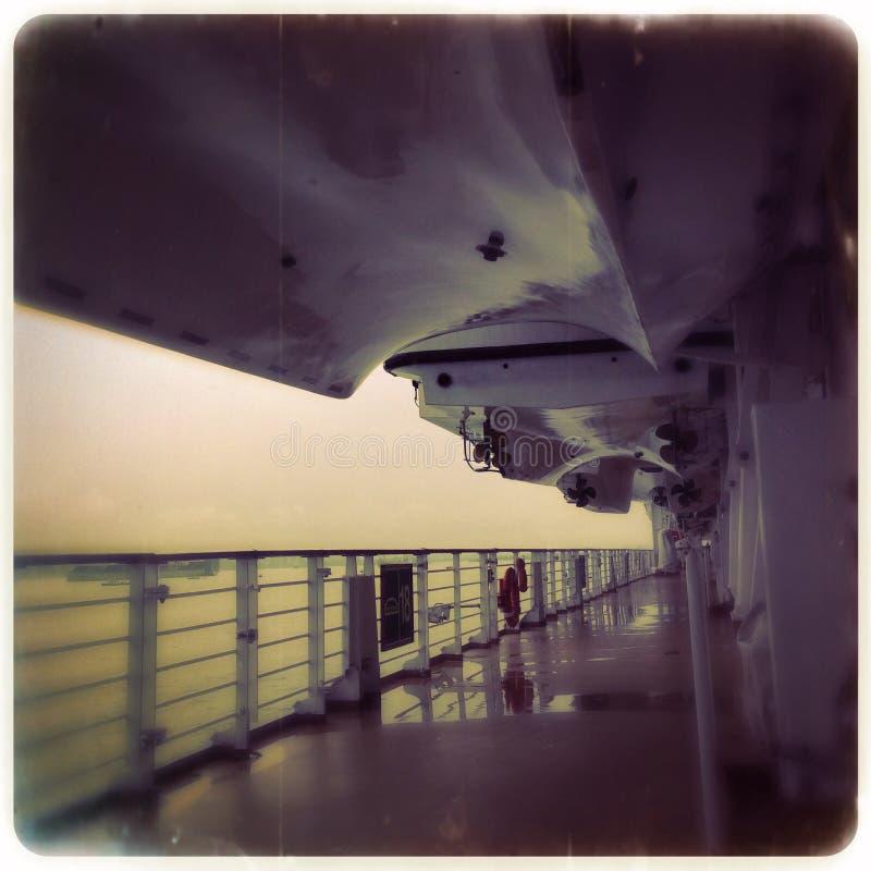 Ombord dystert skepp - fotografering för bildbyråer