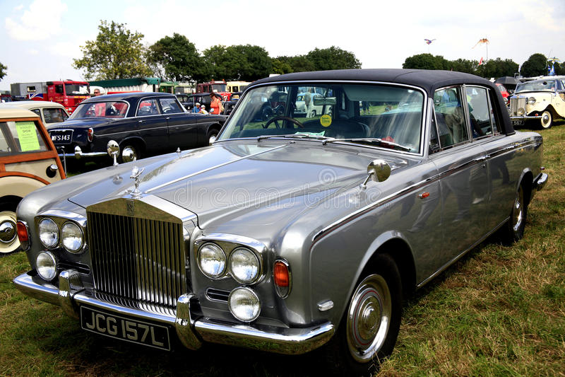 Ombra classica II. dell'argento di Rolls Royce. fotografia stock