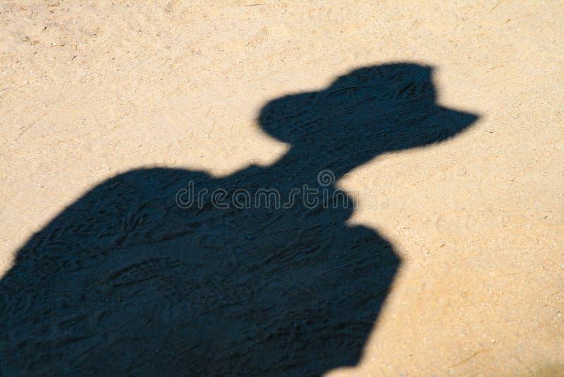 Ombra del cowboy fotografia stock libera da diritti