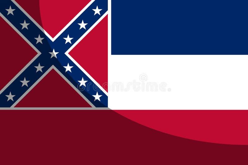 Ombra della bandiera dello stato del Mississippi illustrazione di stock