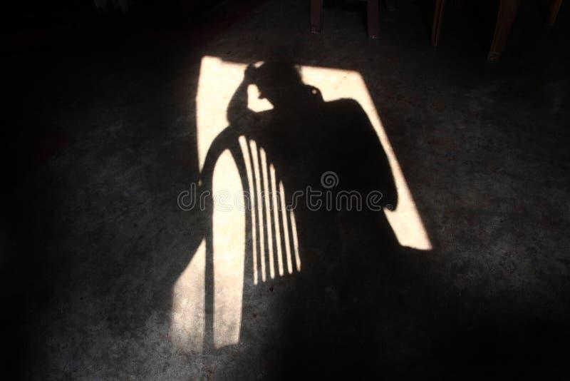 Ombra della depressione fotografia stock