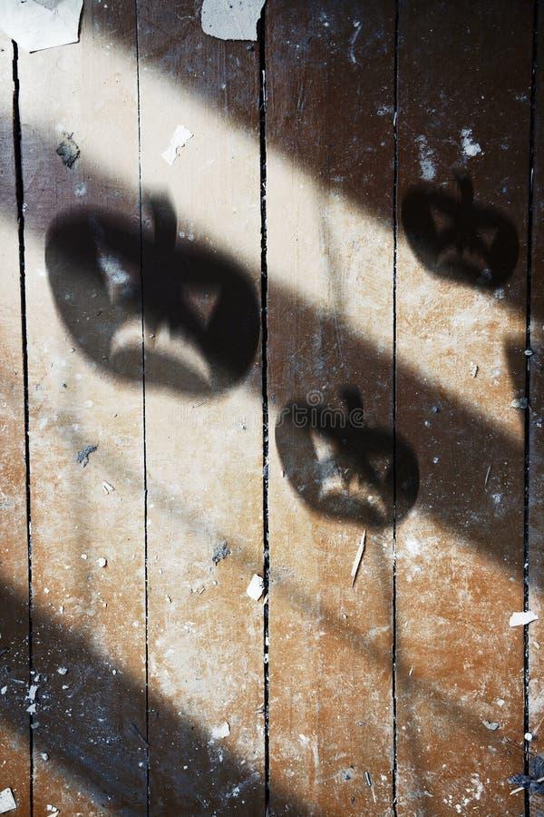 Ombra della zucca di Halloween fotografia stock