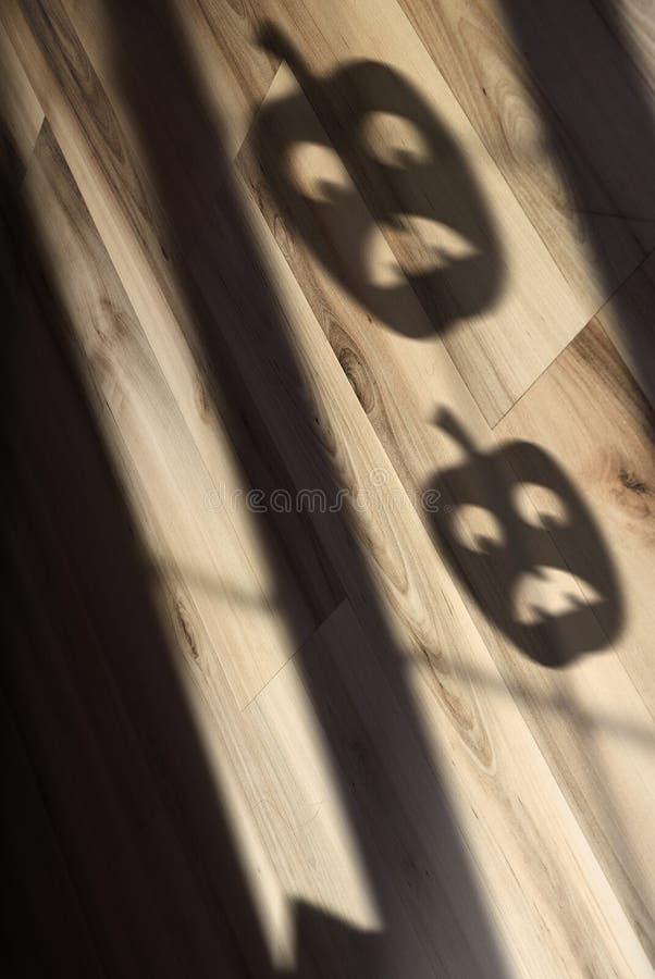 Ombra della zucca di Halloween fotografia stock libera da diritti