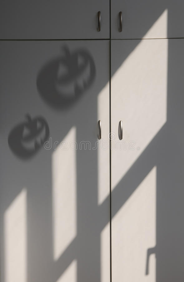 Ombra della zucca di Halloween immagine stock libera da diritti