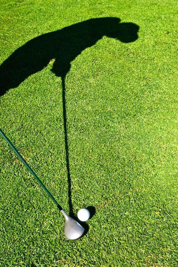 Ombra di golf fotografie stock libere da diritti